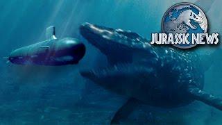Jurassic News - Mosasaur Battles Submarine + Ian Malcom RETURNS!!! || Jurassic World 2 News Update