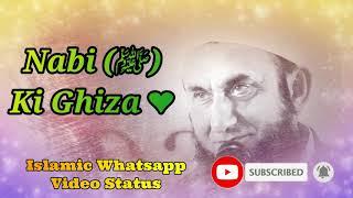 Nabi (S.A.W) Ki Ghiza ❤️ Maulana Tariq Jameel Bayan Whatsapp Status Video ❤️