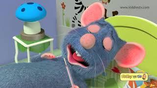chuhe ko bukhar hai | आज मंगलवार है चूहे को बुखार है | hindi rhymes for children | kiddiestv hindi