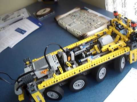 Lego Technic Crane 8421 with power functions added