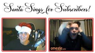 Santa Goes Christmas Caroling on OMEGLE! | Omegle Singing #9