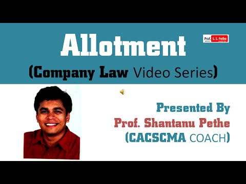 Companies Act 2013: (Chapter - 7) : Allotment