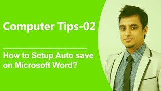 Computer tips-02: How to Setup Auto save on Microsoft Word? (Bangla)