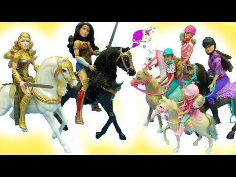 Xxx Mp4 Barbie Horseback Riding Sisters Wonder Woman Princess Diana Horse Doll Sets 3gp Sex