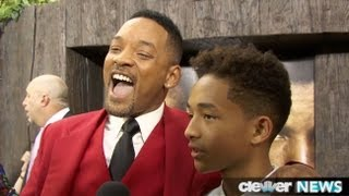 Will Smith and Jaden Smith After Earth Premiere - FUNNY INTERVIEW!