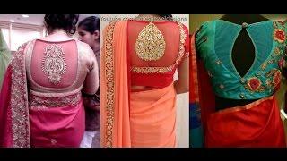 Net Blouse Designs  Back Neck Pattern For Designer Sarees