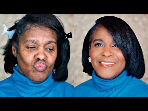 MAKEUP ON MY 62 YEAR OLD GRANDMA| Watch HER Transform!