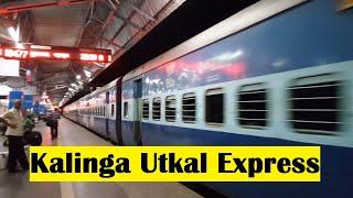 18477 Puri-Haridwar Kalinga Utkal Express Arriving on Cuttack Railway Station, Odisha