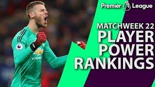 Premier League Top 5 Player Power Rankings: Matchweek 22 | NBC Sports