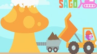 Fun Sago Mini Games - Kids Learn Building a Home With Sago Mini Trucks And Diggers