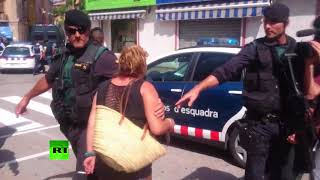 Suspect in Barcelona car attack heckled during arrest in Ripoll