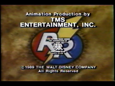 Chip n Dale Rescue Rangers Undercover Critters – Ending 1991 Theme VHS Capture