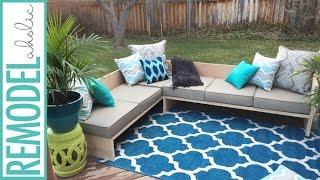 DIY Modern Outdoor Sofa Sectional   #plywoodpretty