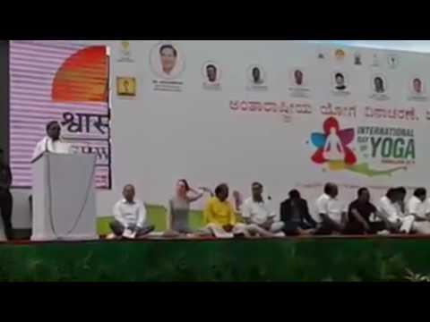 Xxx Mp4 International Yoga Day 2016 By Siddaramaiah And Bipasa Basu 3gp Sex