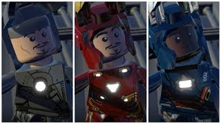 All MCU Iron Man in LEGO Marvel Superheroes Cutscene + Mods