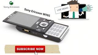 Sony Ericsson W995i Live Demo!