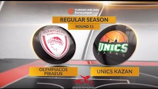 Highlights: Olympiacos Piraeus-Unics Kazan