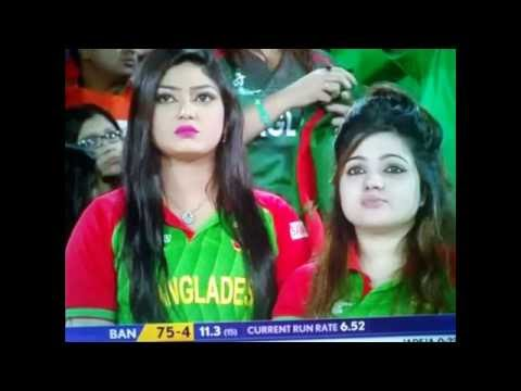 Hot cute Bangla Girl in India v/s Bangladesh match