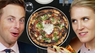 Couple Tries Home Cooked Vs. $65 Pizza