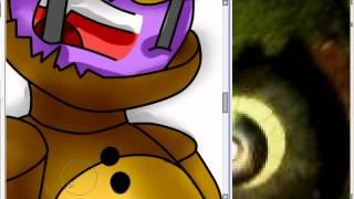 The death of purple guy (Fnaf 3 speedpaint)
