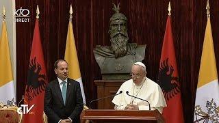 Rencontre du Pape François avec les autorités d'Albanie