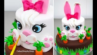 Easter BUNNY Cake - How to by Cakes StepbyStep