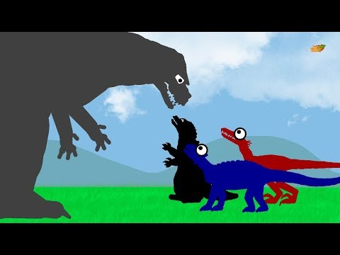 Godzilla and Dinosaurs Cartoons for children | Funny Dinosaurs and Surprise Eggs - new episode