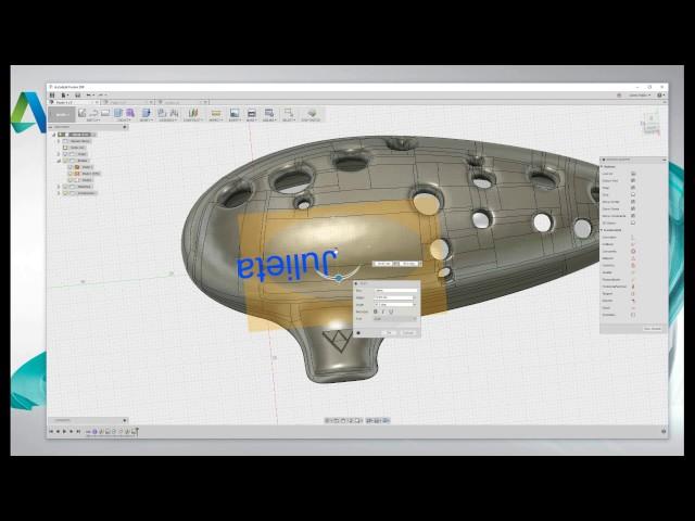 Tutorial para aprender a diseñar un ocarina del tiempo con Fusion 360.