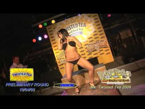 Twisted Tea Bikini Contest Bamboo Bernes 10 04 09