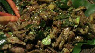 Resep 245; Balado petai kombinasi teri udang, Parkia with shrimp and anchovies