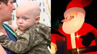 Vandals Pop Inflatable Santa in Terminally Ill Boy