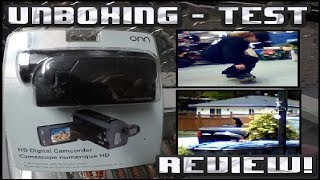 ONN Walmart 5 Megapixel Digital Camcorder Unboxing, Test And Review! WALMART SPECIAL!