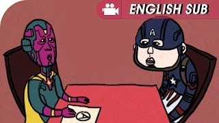 MARVEL Civil war comic dub : You can do it Captain!!!