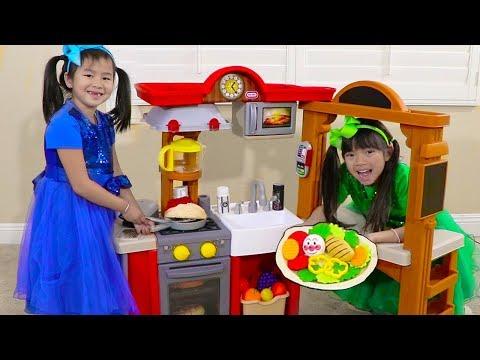 Xxx Mp4 Jannie Emma Pretend Play W Kitchen Restaurant Cooking Kids Toys 3gp Sex