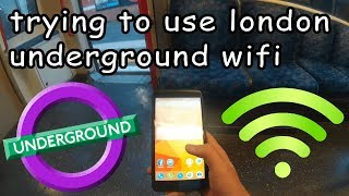 trying to use london underground wifi