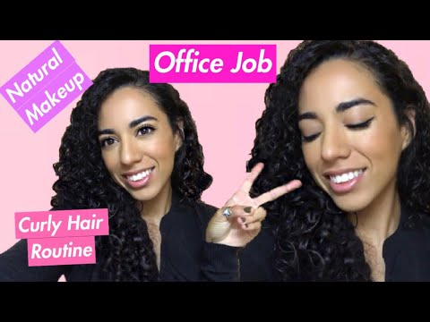 Xxx Mp4 Natural Makeup And Curly Hair Routine For Office Job Latina 3gp Sex