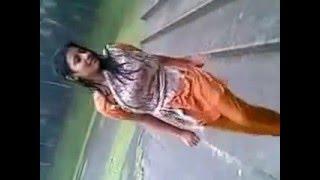 Deshi girl enjoying rain