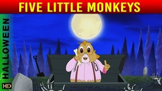 5 Little Monkeys (HD)  | Nursery Rhymes | Halloween Special | Shemaroo Kids
