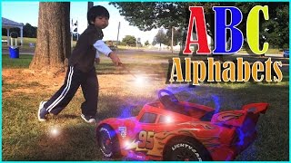 Learning ABC Alphabets with Toy Cars and Trucks part 1