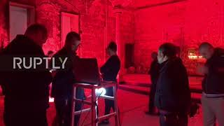 Italy/Iraq/Syria: Colosseum and cathedrals lit red in solidarity with persecuted Christians