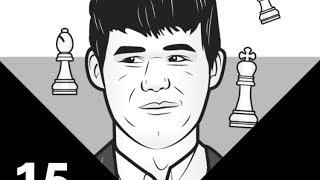 Magnus Carlsen (Age 15) vs GM Huschenbeth   Play Magnus App