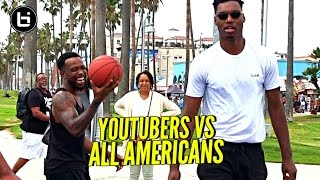 YouTubers vs All Americans! 😂 CashNasty, Mal & TDPresents vs B.McCoy, Ira Lee & Savion!