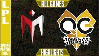 Imay vs QG Reapers Highlights All Games - LPL Spring 2017 Playoffs - IM vs QG All Games
