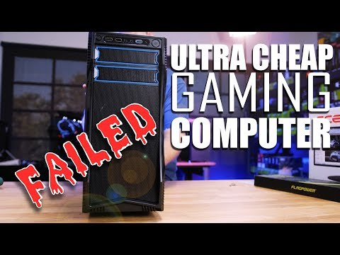 The Ultimate CHEAP PC Gaming Setup . that FAILED