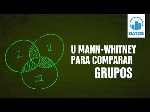 27. U Mann Whitney para comparar grupos [Programa DATOS]