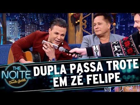 Eduardo Costa e Leonardo dão trote em Zé Felipe   The Noite (15/12/16)