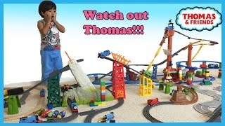 Thomas and Friends Trackmaster Shipwreck Rails Set Avalanche Escape Set trains toys Ryan ToyReview