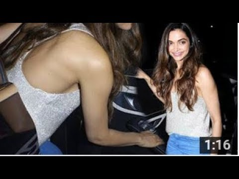 Deepika Padukone Hot Braless At Imtiaz Ali Birthday Party In Mumbai
