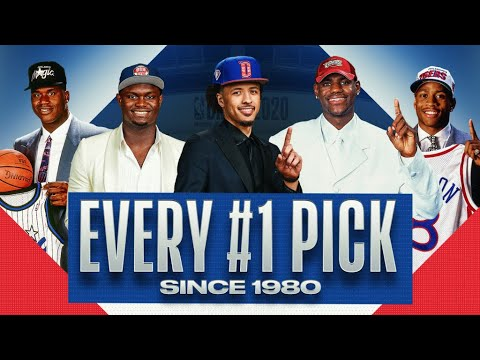 Every 1 Pick Since 1980 Cade Cunningham LeBron Shaq and MORE