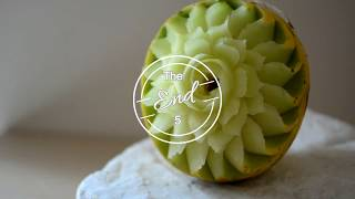 Melon Carving Flower - Andreas Papalexopoulos